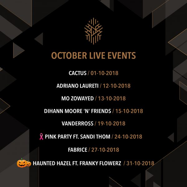 Hazel Rooftop Lounge - October Live Events