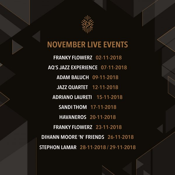 Hazel Rooftop Lounge November Live Acts