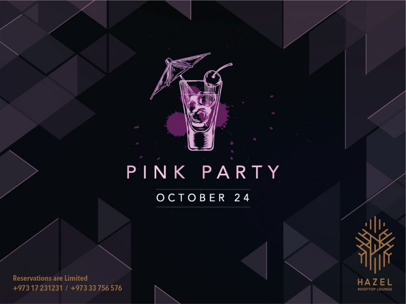 Hazel Rooftop Lounge - Pink Party Live