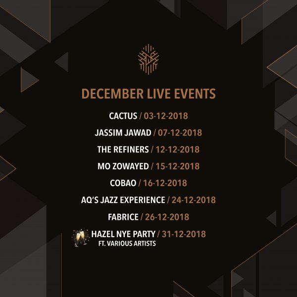 Hazel Rooftop Lounge - December Live Events