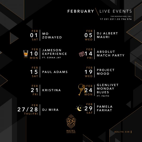 Hazel Rooftop Lounge - Live Acts February